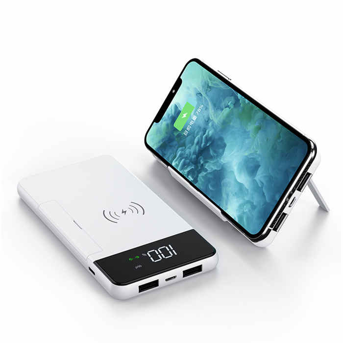 K123 10000mah Wireless Power Bank Portable Wireless Charger Power Bank with LED Display qi wireless power bank for phone
