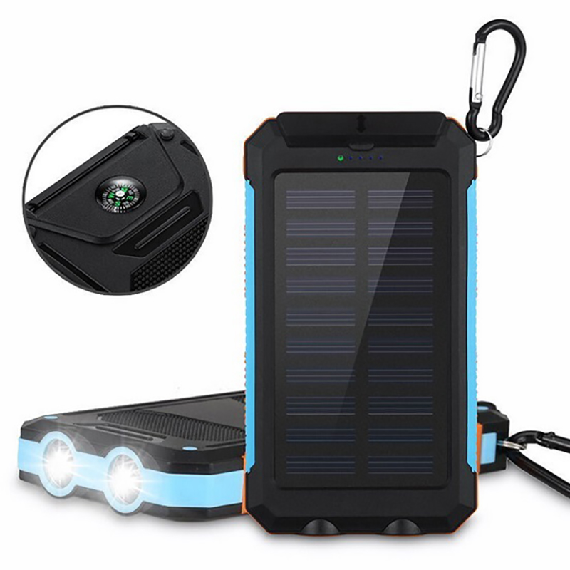 Mini Solar Lantern With Mobile Phone Charger For Window Solar Outdoor 20000mah Power Bank Portable Charger