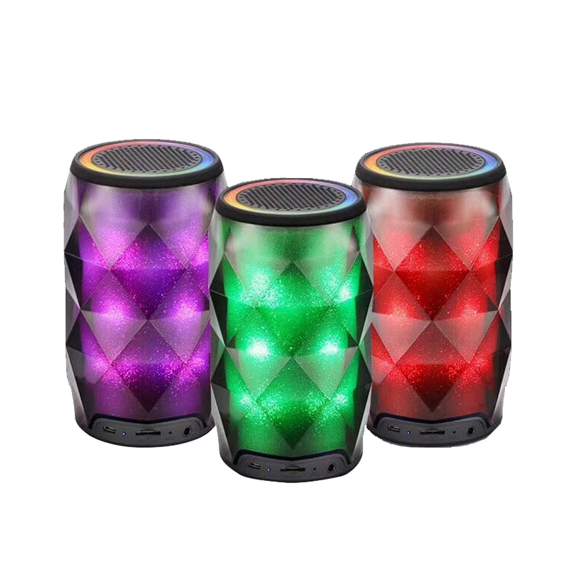 Mini Loudspeaker 7 Colors Changed TF Card Portable Speaker Bluetooth Speaker Outdoor Subwoofer Bass Wireless Speakers