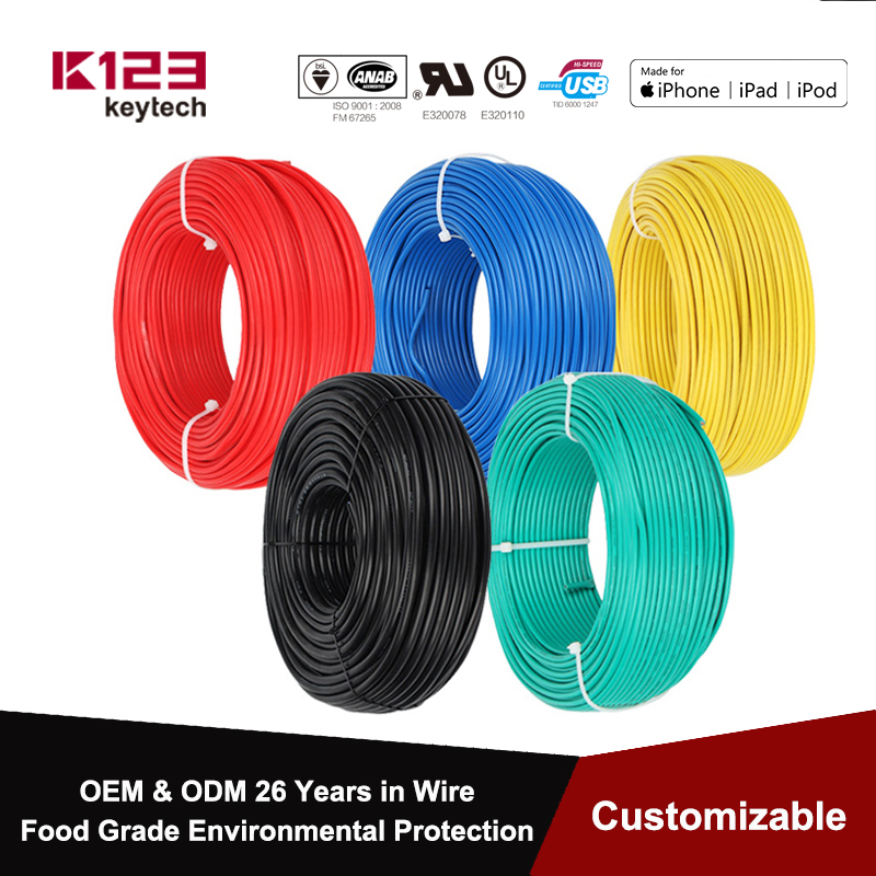 BV 20/19/18/16/14/12/10/8 AWG Single Core Wire Solid Core Copper Wire PVC Colorful Cable Flame Retardant Fixed Electrical Wiring